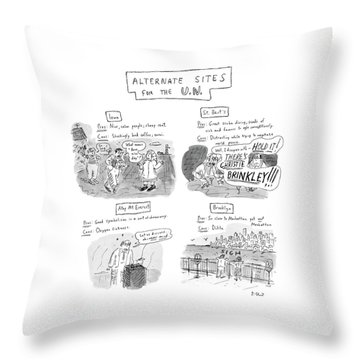 Alternate Sites For The U.n Throw Pillow