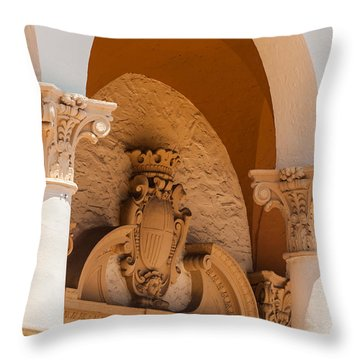 Alto Relievo Coat Of Arms Throw Pillow