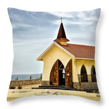 Alto Vista Chapel Aruba Throw Pillow