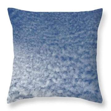 Throw Pillow featuring the photograph Altocumulus Clouds by Jason Williamson