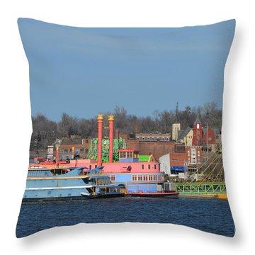 Alton Belle Casino Throw Pillow by Peggy Franz