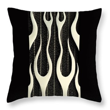 Aluminium Flames Throw Pillow