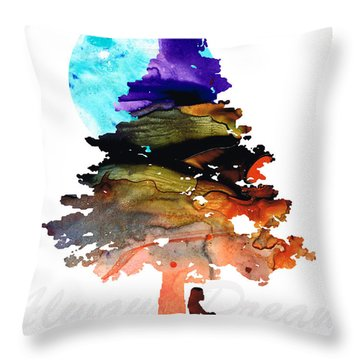 Always Dream - Inspirational Art By Sharon Cummings Throw Pillow by Sharon Cummings