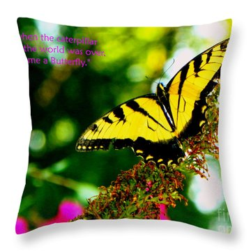 Always Hope - Butterfly Throw Pillow