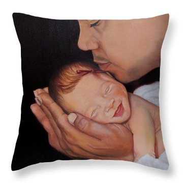 Always In His Heart And In His Hands Throw Pillow