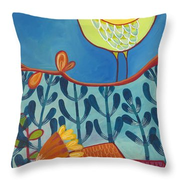 Throw Pillow featuring the painting Always Kiss Me Good Night by Carla Bank