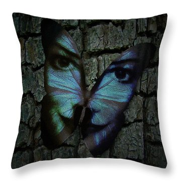 Am I A Butterfly Dreaming I Am A Human ? Throw Pillow
