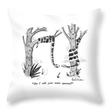 Am I Still Your Main Squeeze? Throw Pillow by Leo Cullum