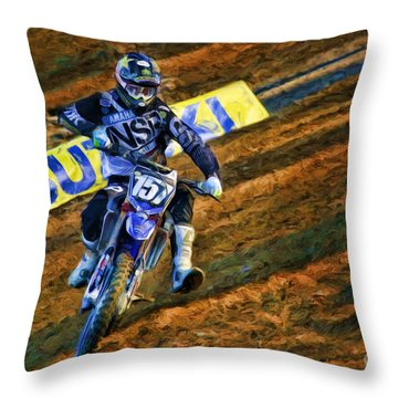Ama 250sx Supercross Aaron Plessinger Throw Pillow