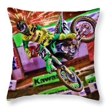 Ama 450sx Supercross Chad Reed Throw Pillow