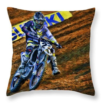 Ama 450sx Supercross Jason Anderson Throw Pillow