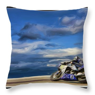 Ama Superbike Josh Jayes Throw Pillow