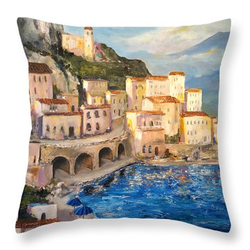 Amalfi Coast Highway Throw Pillow