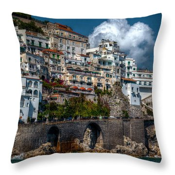Throw Pillow featuring the photograph Amalfi Coast by Uri Baruch