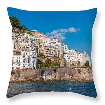 Amalfi Hills Throw Pillow