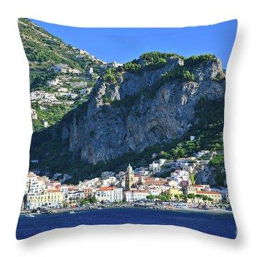 Famous Amalfi Village Throw Pillow