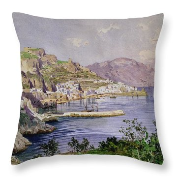 Amalfi Throw Pillow by Ludwig Hans Fischer