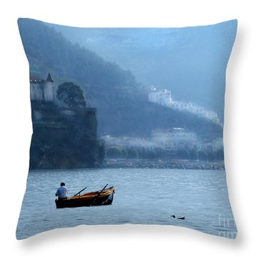 Throw Pillow featuring the photograph Amalfi To Capri. Italy by Jennie Breeze