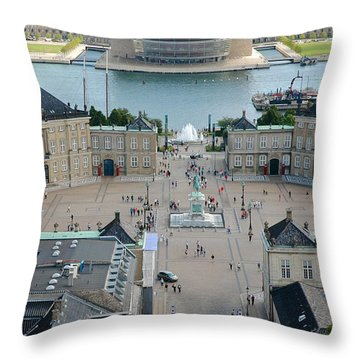 Throw Pillow featuring the photograph Amalienborg Palace Copenhagen by Mary Lee Dereske