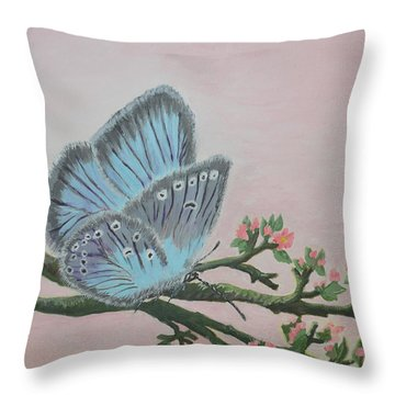 Amandas Blue Dream Throw Pillow