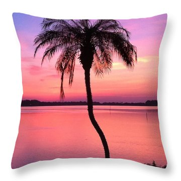 Amanecer Throw Pillow by Carlos Avila