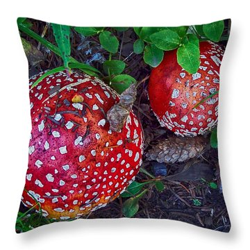 Amanita Throw Pillow
