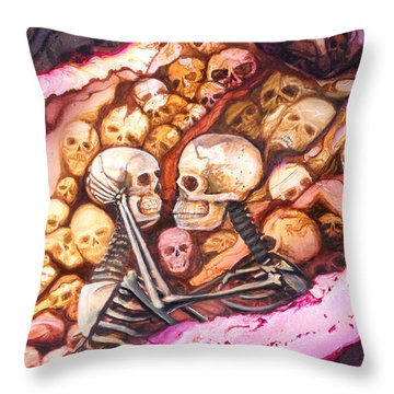 Amar Pa Siempre Throw Pillow by Angel Ortiz