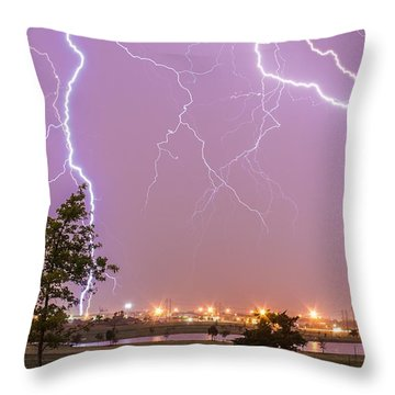 Amarillo Bolts Throw Pillow