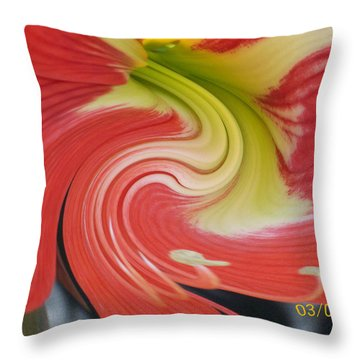 Throw Pillow featuring the photograph Amarylis Twirl by Belinda Lee