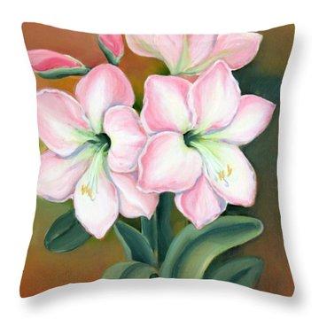 Amaryllis For Ladies Throw Pillow