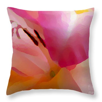 Gladiola Photo Painting Throw Pillow