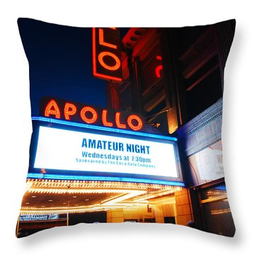 Amateur Night Throw Pillow by James Kirkikis