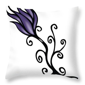 Throw Pillow featuring the digital art Amathist Rose by Jamie Lynn