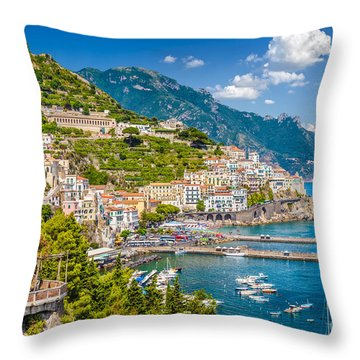 Amazing Amalfi Throw Pillow by JR Photography