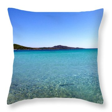 Throw Pillow featuring the photograph Amazing Blue by Ramona Matei