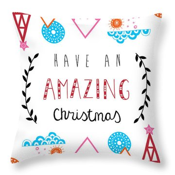 Amazing Christmas Throw Pillow by Susan Claire