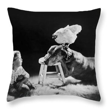 Amazing Circa 1920 Throw Pillow by Aged Pixel