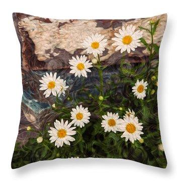 Amazing Daisies Throw Pillow by Omaste Witkowski