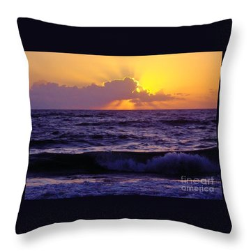 Amazing - Florida - Sunrise Throw Pillow by D Hackett