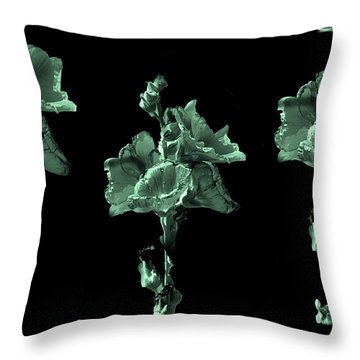 Amazing Flowers Throw Pillow by Manjot Singh Sachdeva