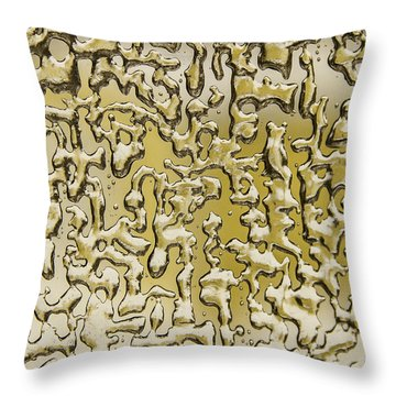 Amazing Gold Maze Throw Pillow
