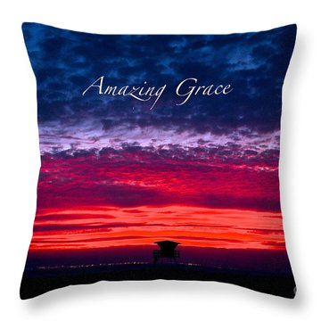 Throw Pillow featuring the photograph Red Sky At Night by Margie Amberge