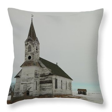 Amazing Grace In North Dakota Throw Pillow by Jeff Swan