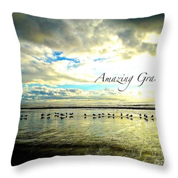 Throw Pillow featuring the photograph Amazing Grace Sunrise 2 by Margie Amberge