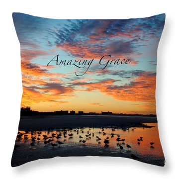 Throw Pillow featuring the photograph Amazing Grace On Siesta Key by Margie Amberge