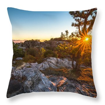 Amazing Linville Sunrise Throw Pillow by Serge Skiba