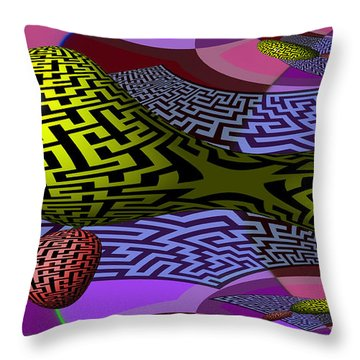 Mandelbrot Maze Throw Pillow