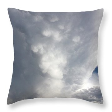 Amazing Storm Clouds Throw Pillow