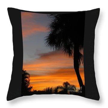 Amazing Sunrise In Florida Throw Pillow by Oksana Semenchenko