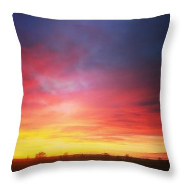 Amazing Sunset The Other Day Throw Pillow